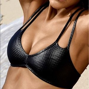 PilyQ leather bathing suit top - BRAND NEW